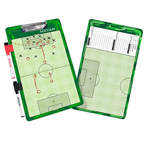 GoSports Soccer Dry Erase Coaches Board with 2 Dry Erase Pens