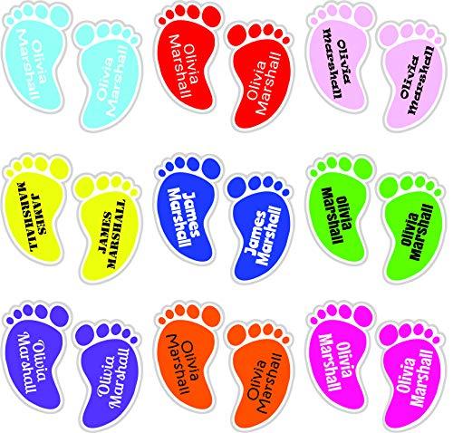 Schuhetiketten - Ankleben an den Füßen (12 Etiketten)