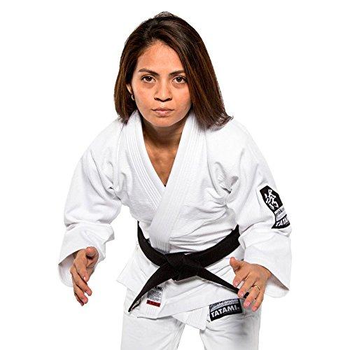Tatami Fightwear Donna Hokori BJJ GI Bianco, Donna, Ladies-hokori-w-F2, White, F2