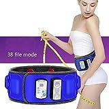 XHDMJ Vibrierende Slimmerbelt, Gewicht Verlieren Magnet Gürtel Massage Schmerzen Lindern Und Stress, 360 ° Surround Vibration, Beheizbare Taille Unterstützung, Fest Vibration Fat Räumgerät
