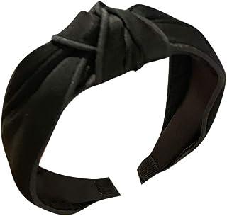 Women Headband Wrap, NDGDA Ladies Head Band Fabric Hairband Head Hair Band Accessories (Black)