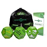 3-Pack Exercise Dice Bundle with Fitness Manual & Bag   Perfect for HIIT, Cardio, Yoga, Stretching, Strength Training, Sports, Crossfit, Plyometrics, Body Weight, Group Classes, All Ages, WOD