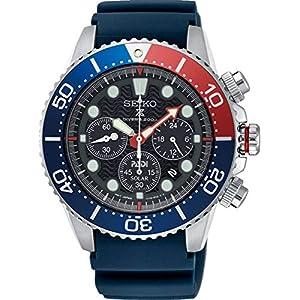 Fashion Shopping SEIKO PROSPEX PADI Special Edition Chronograph Solar Diver's 200M Pepsi Bezel SSC663P1