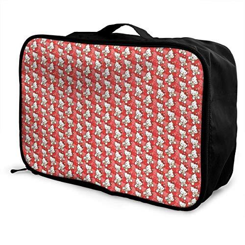 Bolsa de viaje Hello Kitty Lage de viaje liviana maleta portátil Bolsas para mujeres hombres niños impermeable grande Bapa Caity