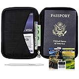 Custodia Porta Passaporto - Portafoglio da Viaggio con Blocco RFID - Zero Grid
