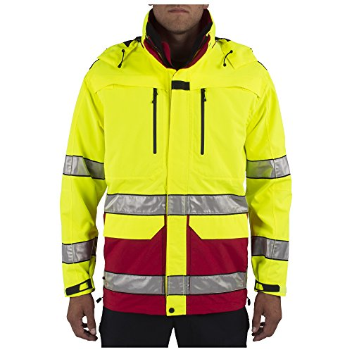5.11 Tactical Men's First Responder Security Jacket, High Visibility, All-Weather, Style 48198