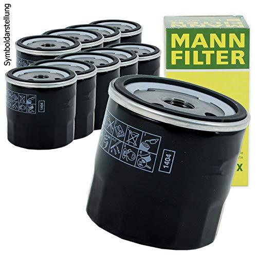 10x MANN-FILTER Ölfilter W 712/93