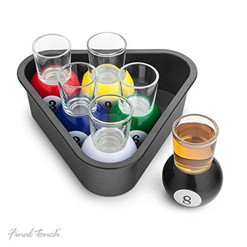 FINAL TOUCH Set of 6 Pool Shots - Set von 6 Pool Schnapsgläser Ideale Partei Neuheit FTA1836