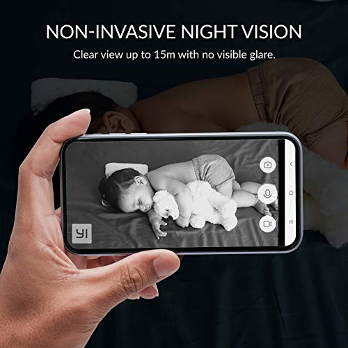 4 Stück YI Überwachungskamera 1080p Innen WiFi IP Sicherheitskamera mit Bewegungserkennung Nachtsichtfunktion Geräuscherkennung Zwei-Wege-Audio Aufzeichnung Security Camera für Baby Haustier Zuhause