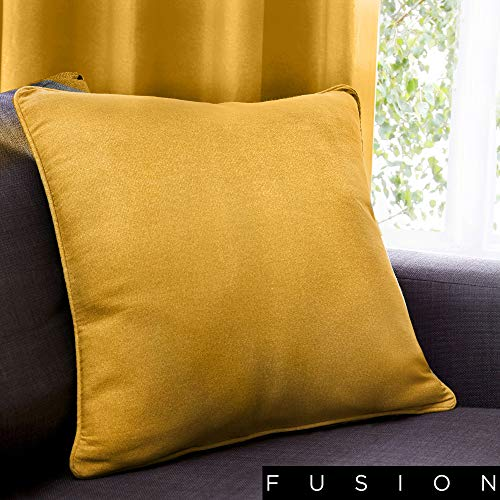 Fusion - Sorbonne - 100% Cotton Filled Cushion - 43x43 cm in Ochre