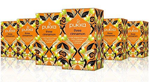 Pukka Organischen Drei Zimt Teebeutel 20 X 2G - Packung mit 6