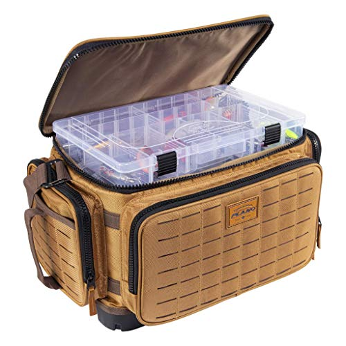 Plano Guide Series Tackle Bag | Premium Tackle Storage with No Slip Base and Included stows, Khaki with Brown and Black Trim, 3700 (PLABG370)