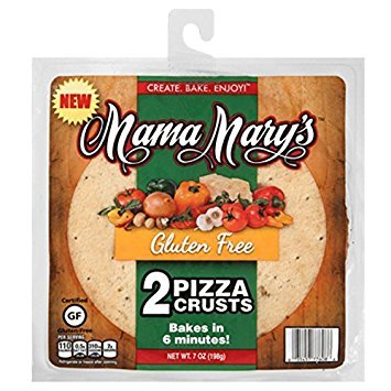 Mama Mary's Gluten Free Pizza Crusts, 7 Ounce (7 Ounce Pack of 4)