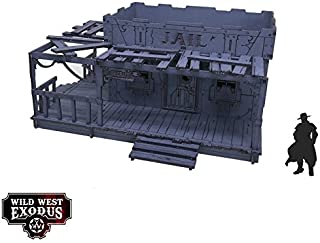 Wild West Exodus - Terrain 28mm Red Oak - Jail SW