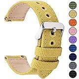 Fullmosa 14mm 16mm 18mm 20mm 22mm 24mm Bracelet Montre à Dégagement Rapide, 8 Couleurs Bracelet de Montre Militaire en...