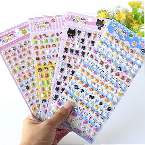 OMMO LEBEINDR Kawaii Kids Aufkleber Schöne Kleintier Foam 3D Dekorative Sticker DIY Decorative Adhesive Aufkleber für Tagebuch Album (Random Style)