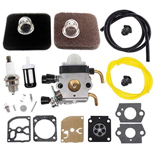 AISEN Vergaser mit Membran Reparatursatz für Stihl FS85 FS75 FS80 KM85 HS75 HS80 HS85 und Luftfilter Zündkerze