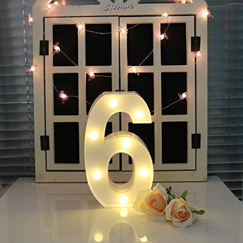 Oamore LED alfabet licht brief decoratieve lamp licht LED wit verlichte letters en cijfers voor verjaardag bruiloft bar wandbehang decor