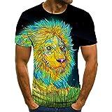 Hombres Camisas Carta Impresión 3D Hombres Camiseta Transpirable...