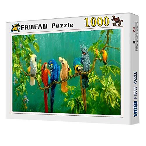 FAWFAW Puzzles 1000 Piezas, Loros De Colores Pájaro, Animales