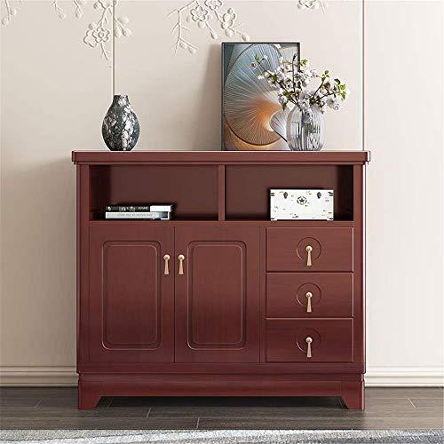 Couchtisch für Wohnzimmer , Sideboard-Aufbewahrungsschrank Holzbuffet-Aufbewahrungsschrank Wohnzimmer Sideboard-Akzenttisch Zeitgenössisches Sideboard-Buffet Credenza (Farbe: Rot 1, Größe: 108x37x95