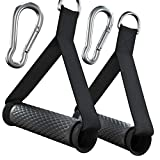 Aboom Upgraded Workout Handles for Cable Machines and Bowflex, Heavy Duty Exercise Resistance Bands Handles Grips with 2 Carabiners for Home Gym