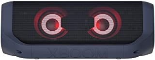 LG XBOOM Go PN7, tragbarer Bluetooth-Lautsprecher mit Meridian Technologie (IPX5-Spritzwasserschutz, 24 Std. Akkulaufzeit, Beleuchtung), schwarz [Modelljahr 2021]