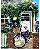 LLXPDZ Bricolaje hecho a mano digital pintura al óleo set decoraciones de regalo para adultos ni?os principiantes amantes de la pintura bicicleta Sin marco 40x50cm