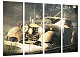 Cuadro Fotográfico Coche Mercedes Vintage Tamaño total: 131 x 62 cm XXL