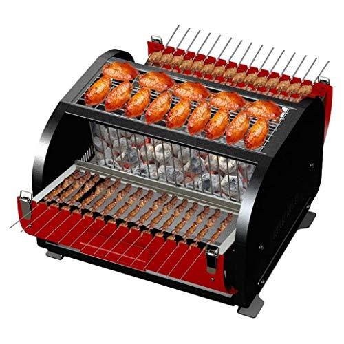 XXCC Barbecue-Ofen, Bewegliche Picknick-Werkzeuge, Edelstahl-Grill, Antiverbrühschutz Griff, Geschlossen Platz Grill, Smoke-Free Grill, Haushaltsklein Charcoal Grill, Geeignet for 3-5 Personen