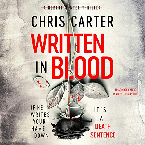 Written in Blood audiobook cover art