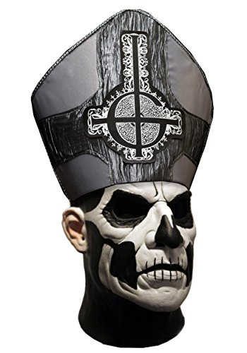 Mascara de Papa Emeritus II Ghost deluxe para adulto