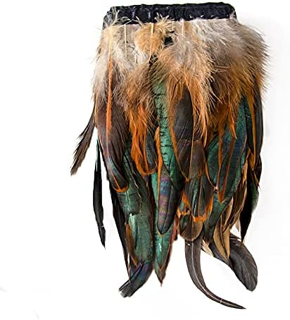 FEARAFTS Natural Rooster Feathers Trims Max [Alternative dealer] 51% OFF 5-7 Feather inch Fringe