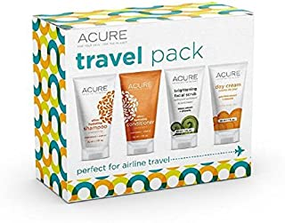 ACURE Essentials Travel Size Kit, Shampoo, Conditioner, Day Cream and Facial Scrub (Packaging May Vary)