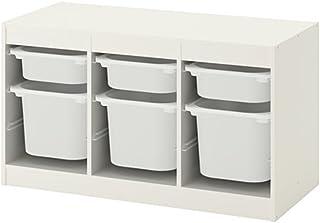 IKEA/イケア TROFAST:収納コンビネーション ボックス付き99x56 cm ホワイト/ホワイト(892.224.13)