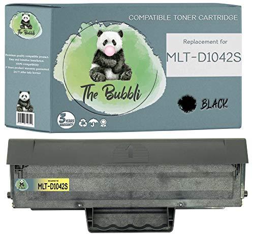 The Bubbli Original | MLT-D1042S 1042S Tóner Compatible para Samsung ML-1660 ML-1661 ML-1665 ML-1666 ML-1670 ML-1675 ML-1860 ML-1865 ML-1865W SCX-3200 SCX-3205 SCX-3205W SCX-3206 (1 Negro)