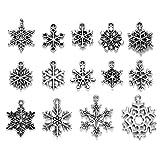 Clest F&H Bulk Lots 70 Unids / set Copo de Nieve Colgantes de Plata Tibetana Colgantes para DIY Collar Pulsera Pendientes Joyería Fabricación de Accesorios