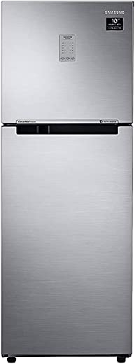 Samsung 253L 3 Star Inverter Frost Free Double Door Refrigerator (RT28T3743S8/HL, Elegant Inox, Convertible) 1
