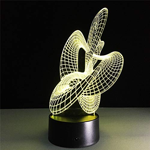 Figura geométrica abstracta artística 3D Ilusión óptica Lámpara de mesa LED Luz de noche Regalo para niños Decoración del hogar