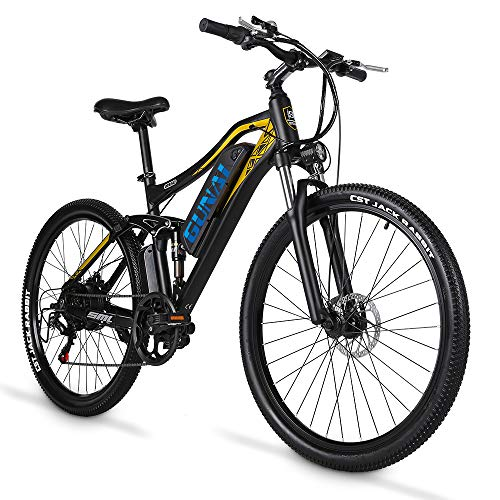 GUNAI 27.5 Inch Electric Bike for Adult 500W Mountain Bike with 48V 15AH Lithium Ion Battery