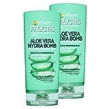 Fructis Garnier Acondicionador Fortificante Aloe Vera Hydra Bomb - 3 Paquetes de 222 gr