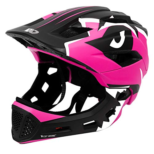 Kids Bike Helmet 3-15 Years, CE Certified Breathable Ultralight Adjustable Cycling Helmet Toddler for Bicycle, Skateboard, Scooter, Rollerblading, Children Protective Gear (20-22 Inches) (Pink)