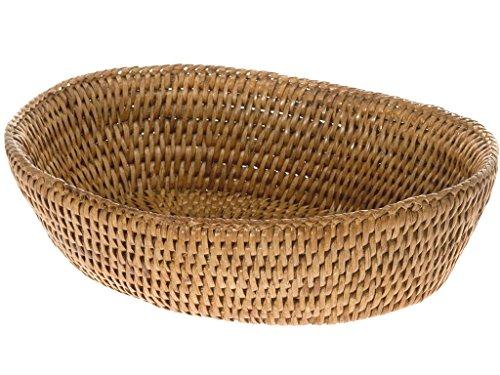 KOUBOO 1020034 La Jolla Rattan Bread Bowl, Honey Brown, 9.5' x 8' x 2.5'