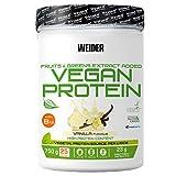 Weider Vegan Protein, sabor vainilla, proteína 100% vegetal de guisantes (PISANE) y arroz, sin gluten, sin lactosa, sin aceite de palma (750 g)