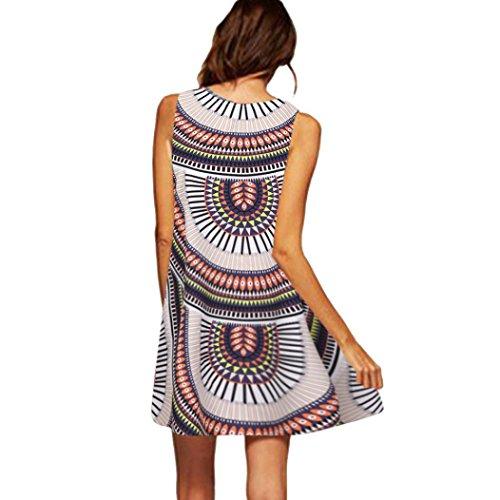 VEMOW Damen ärmelloses kleid x1mehrfarbig 1 xxx-s