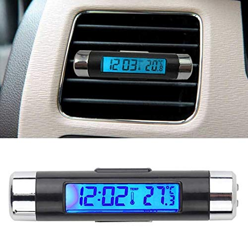 MAXIAORUI Nieuwe 2 in 1 Auto Thermometer Klok Kalender LCD Display Scherm Clip op Digitaal Blauw achterlicht Automotive Accessoires