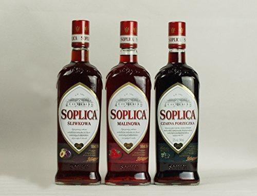 Soplica Fruchtmix: Pflaume, Himbeere, Schwarze Johannisbeere | Polnischer Geschmackswodka