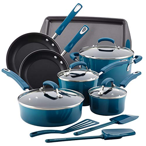 Rachael Ray Brights Nonstick Cookware Pots and Pans ...