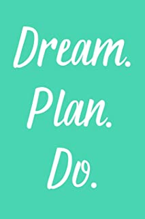 Dream. Plan. Do.: 2020 Weekly Simple Planner: 52 Week Agenda: 6x9 Soft Cover: Aqua Blue