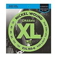 DADDARIO ダダリオ 6弦ベース弦 EXL165-6 Nickel Wound 6-String Bass Light Top Med Btm 32-135